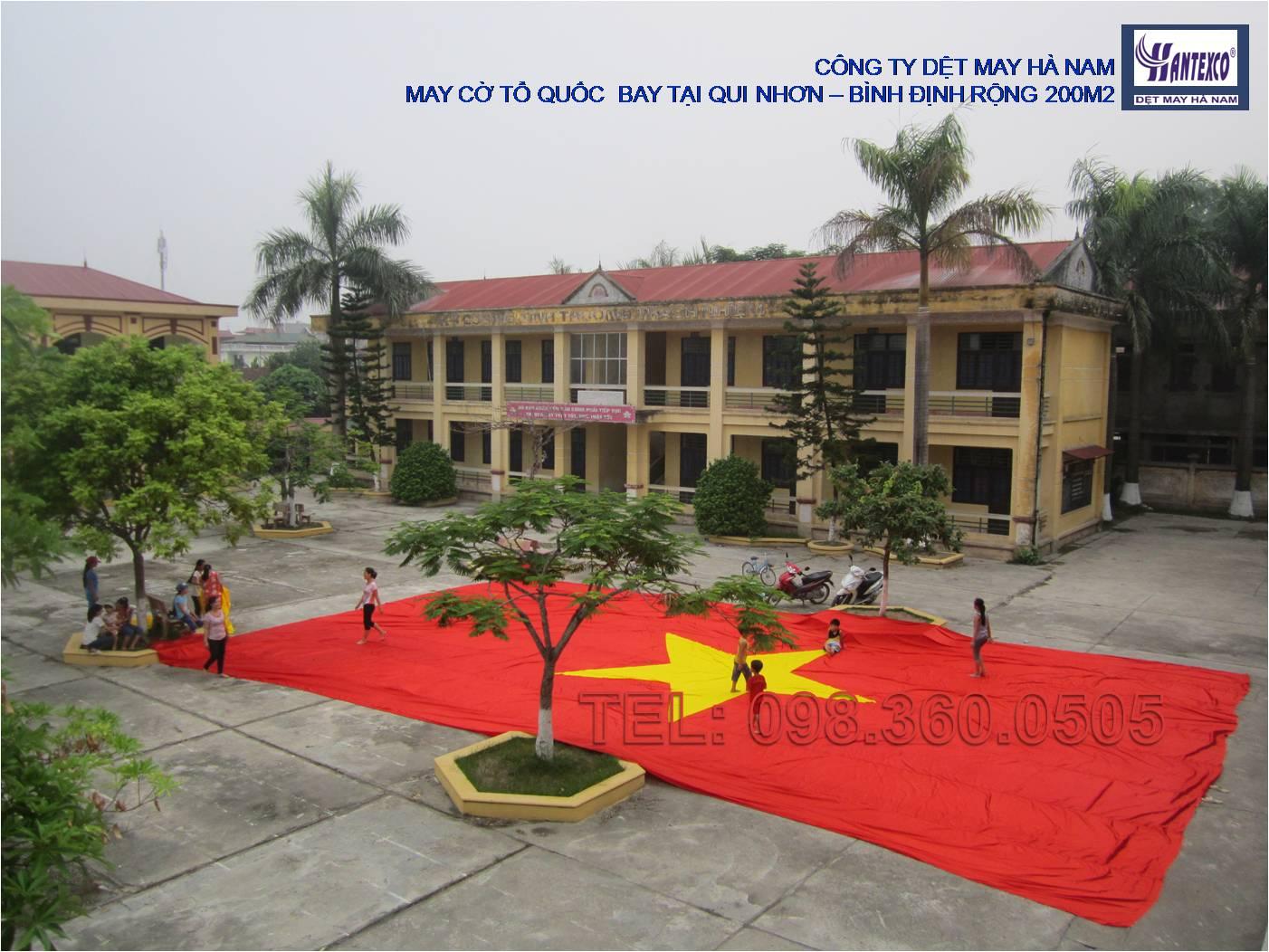 Cung cấp cờ Tổ Quốc bay tại Bình Định - Rộng 200m2