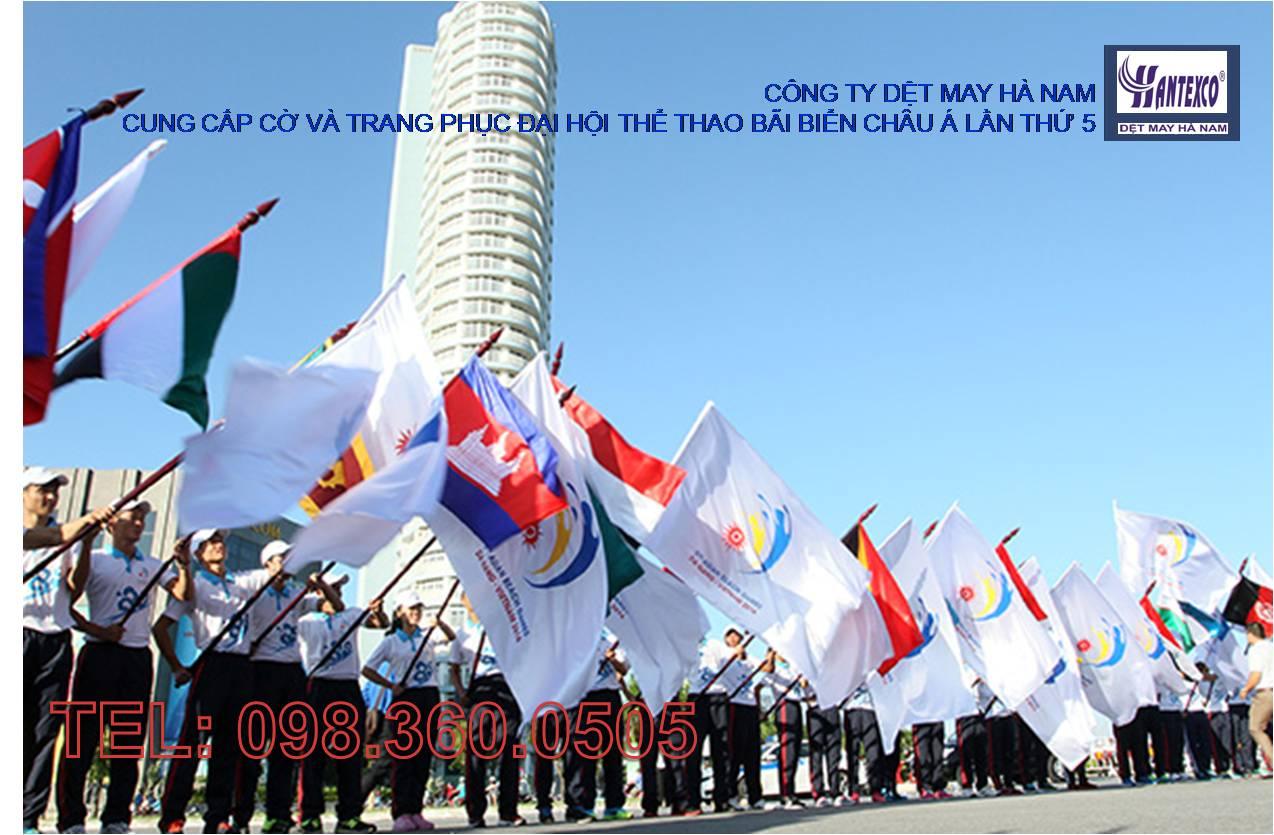 Cung cấp cờ phục vụ Đại hội Thể thao Bãi biển Châu Á lần thứ 5