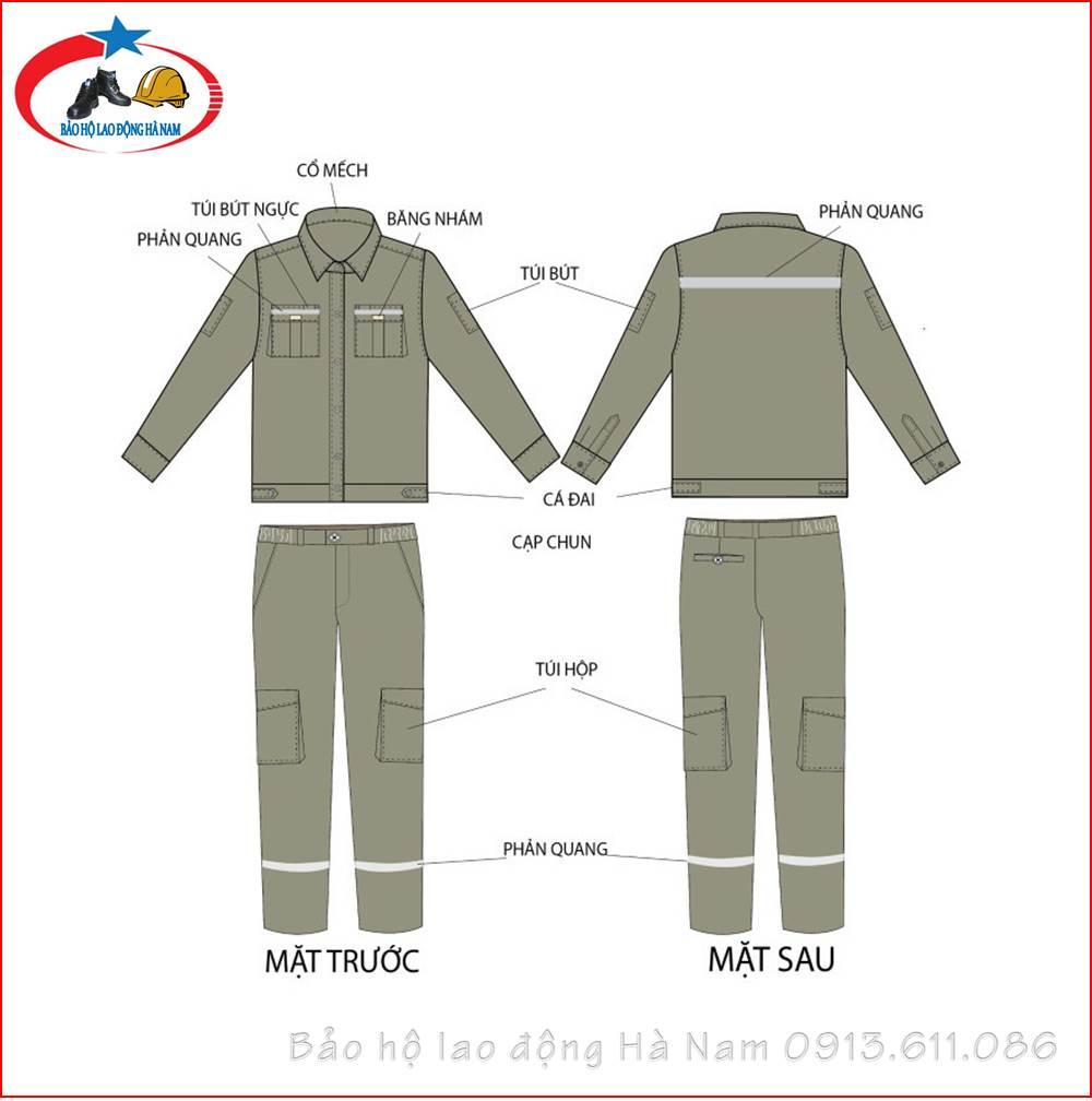 Quần áo Bảo hộ lao động Mẫu_A6