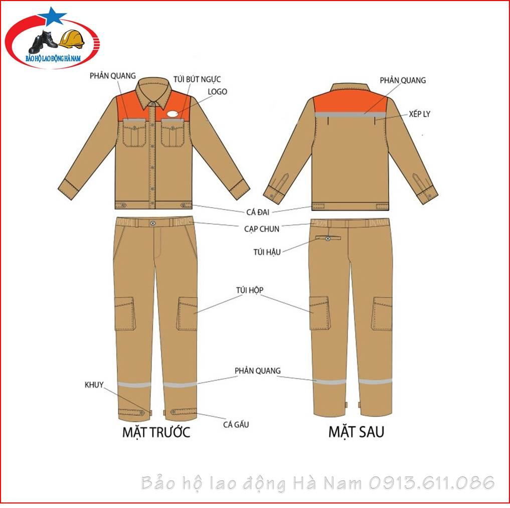 Quần áo Bảo hộ lao động Mẫu_A7